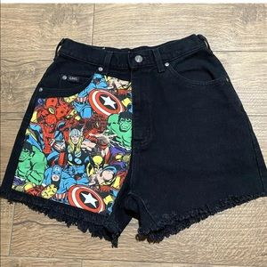 Lee Handmade Black Marvel Design High Waisted